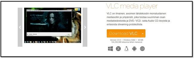 VLC: n virallinen lataussivu
