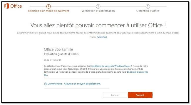 Comment obtenir gratuitement Office 365
