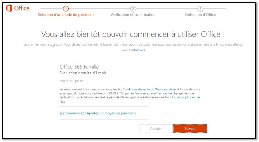 Comment obtenir gratuitement Office 365