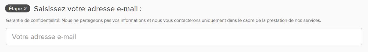 Capture d'écran de la page de paiement d'ExpressVPN avec boîte de confirmation d'adresse e-mail