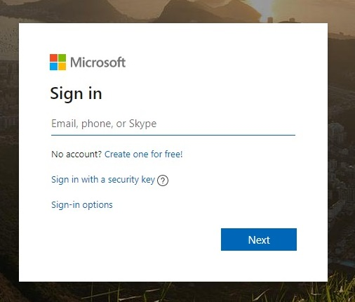 Microsoft Sign In Image