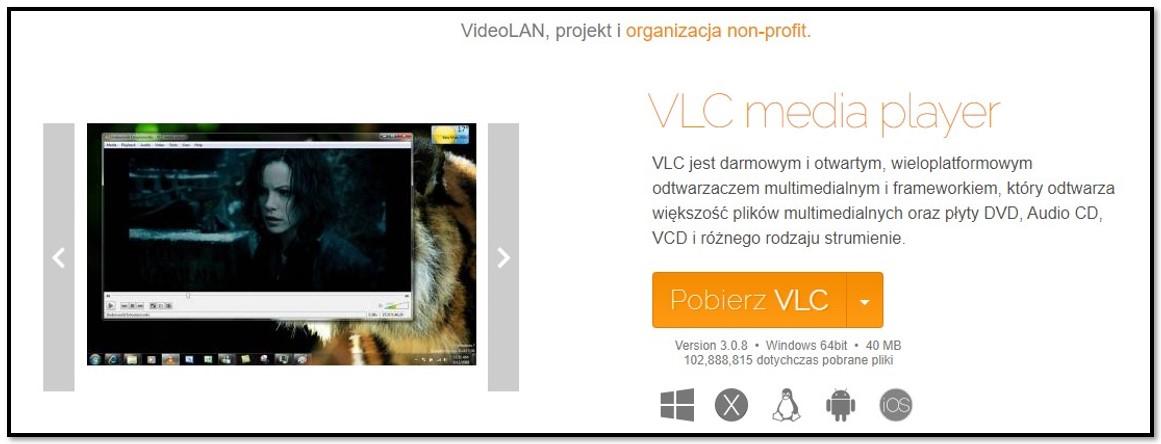 Oficjalna strona pobierania VLC