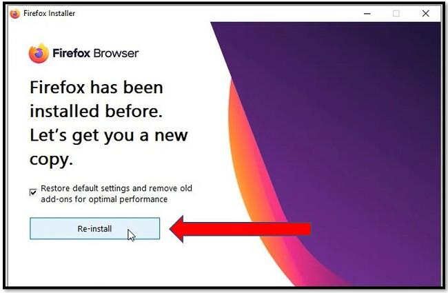 Menginstal ulang Firefox