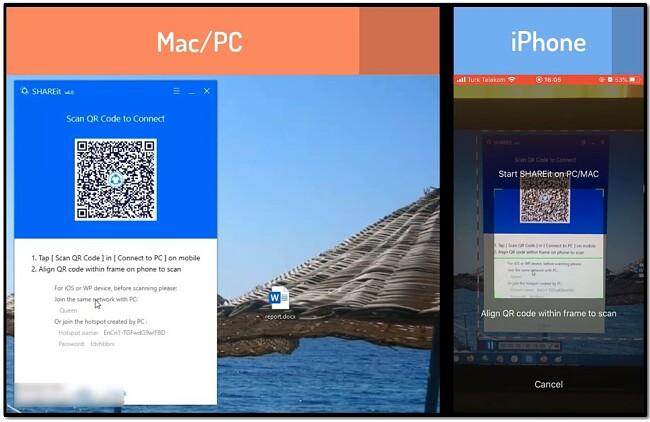 Shareit iphone - Scan QR code