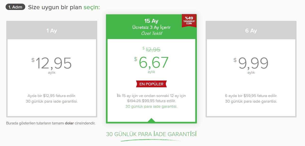 Screenshot of subscription plans on ExpressVPN's hidden coupon page