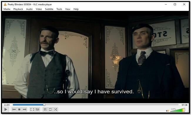 Відображення підзаголовка на VLC Media Player