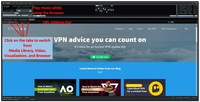 Winamp browser