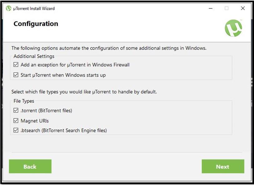 Configuration uTorrent