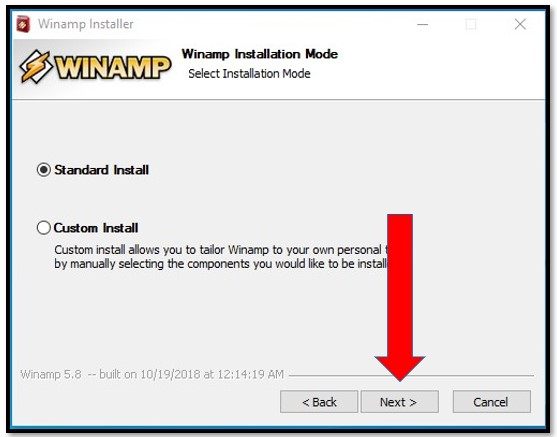 Winamp Installation Mode