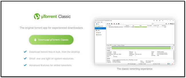 قم بتنزيل uTorrent Classic
