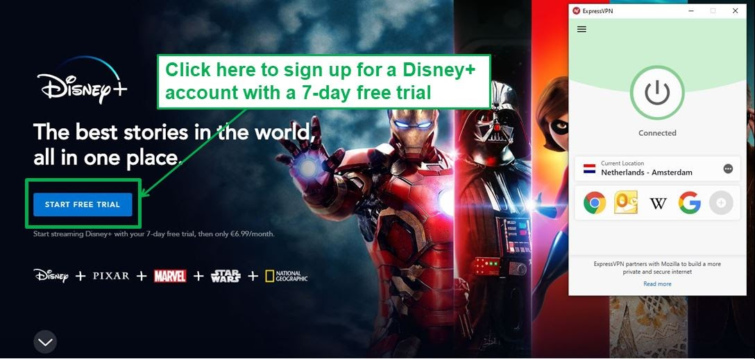Visit disneyplus.com and sign up for a Disney+ account.