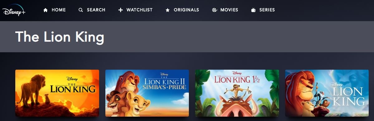 All Lion King content is available on Disney+.