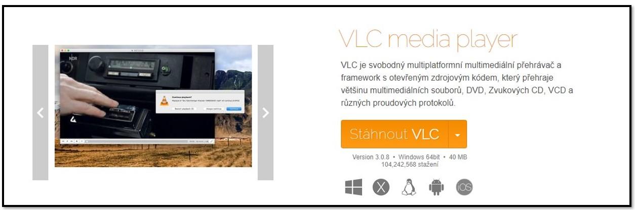 VLC Oficiální stránka ke stažení