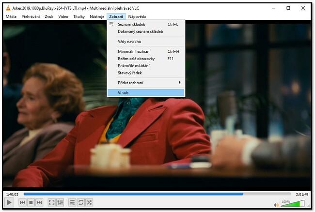 Vyhledávání titulků pomocí VLC VLsub