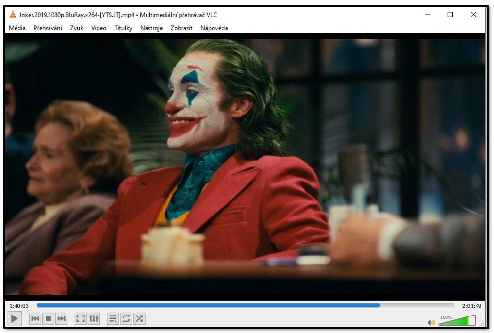 Sledování videa na VLC