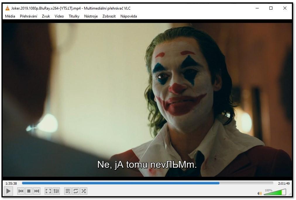 Zobrazení titulků v přehrávači VLC Media Player