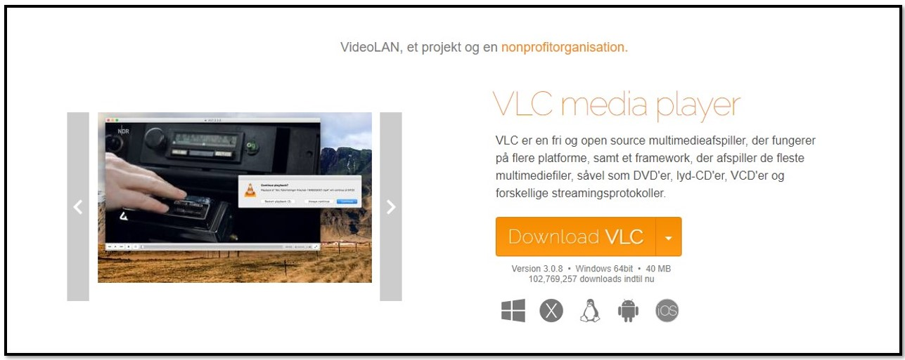 VLC Download Page