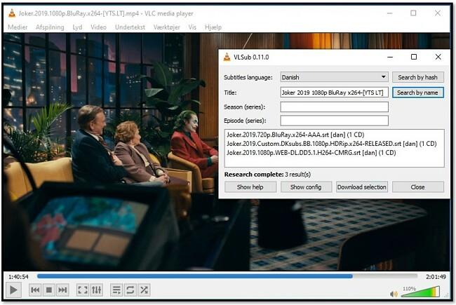 Føj medieoplysninger til VLC VLsub