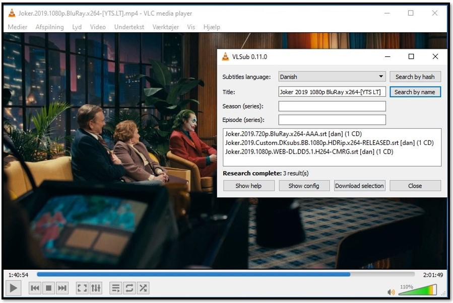 Add Media Information to VLC VLsub