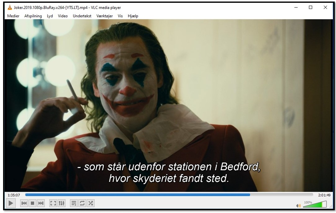 Displaying Subtitle on VLC Media Player