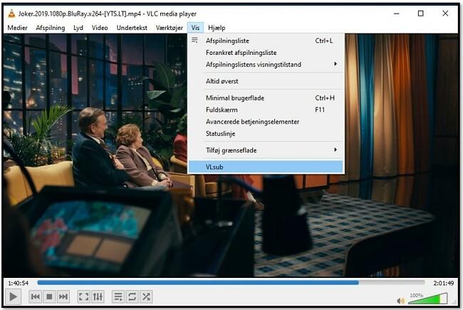 Søg efter undertekster med VLC VLsub
