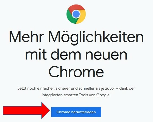 Google Chrome-Download-Seite