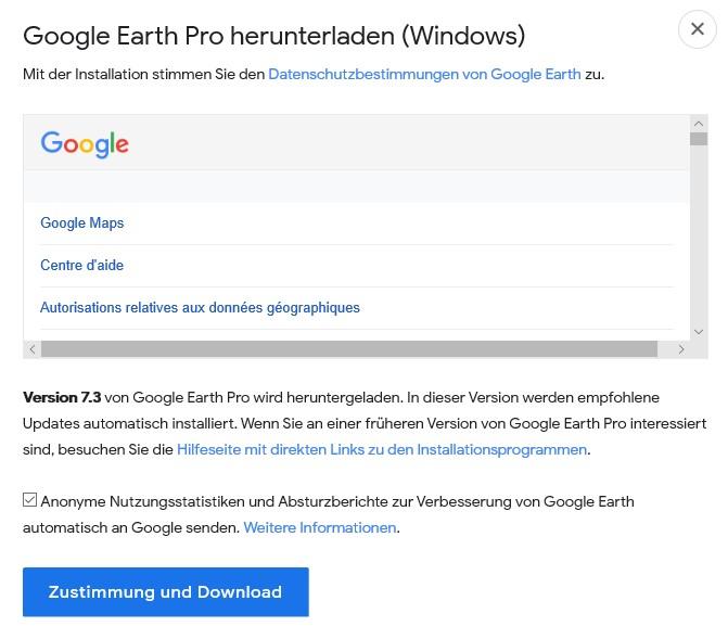 Laden Sie Google Earth Pro für Desktop herunter