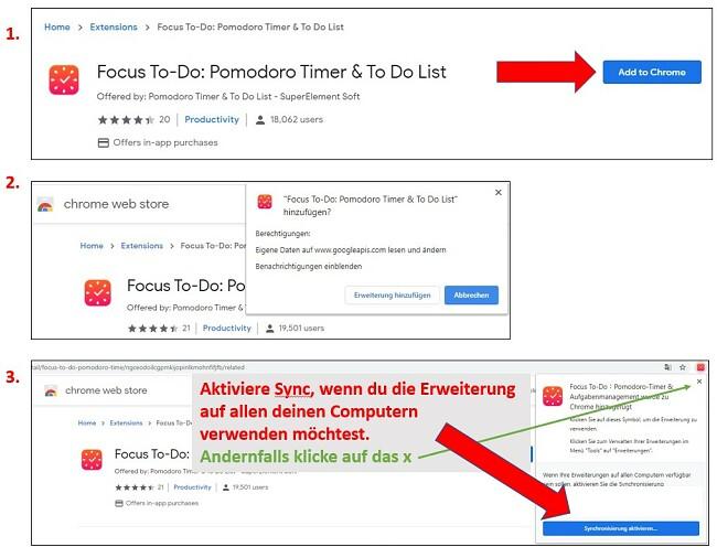 Schritte zum Hinzufügen von Erweiterungen zu Google Chrome
