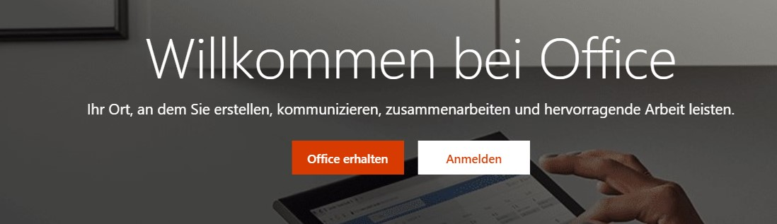 Microsoft Office-Startseite