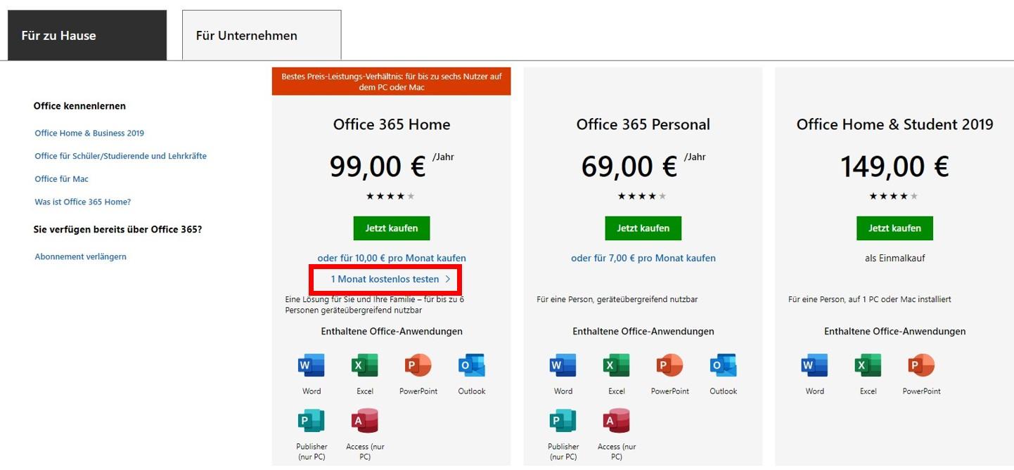 Holen Sie sich Excel kostenlos