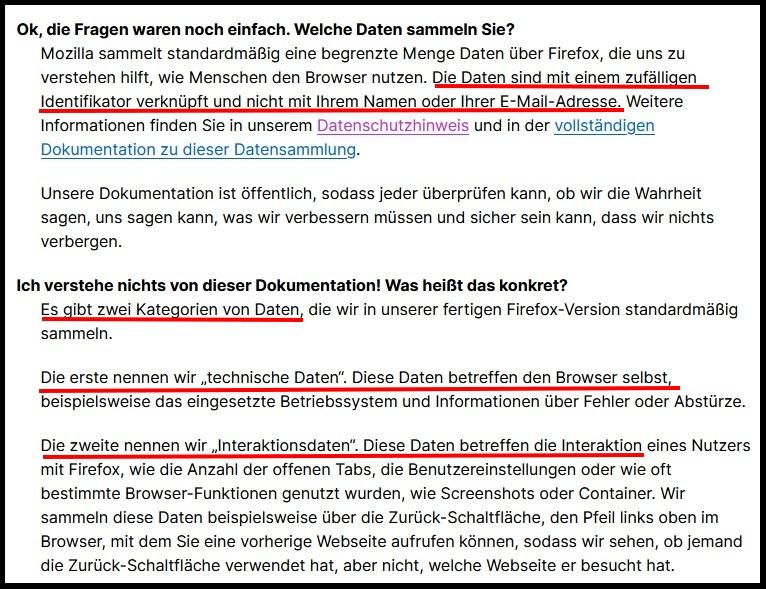 Firefox-Datenschutzrichtlinie