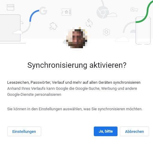 Aktivieren Sie Google Chrome Sync