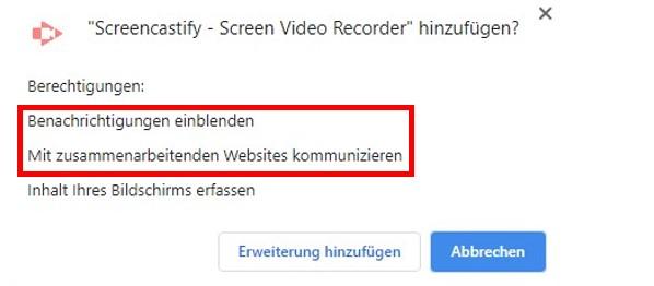 Genehmigen von Berechtigungen für Google Chrome-Erweiterungen
