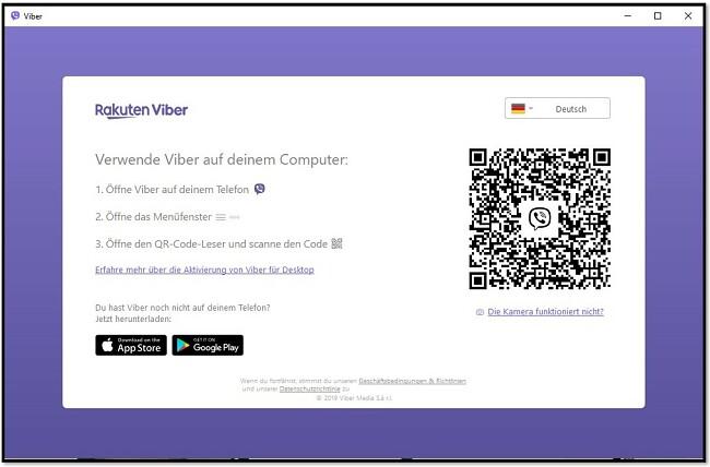 Scannen Sie den QR-Code, um Viber auf dem Computer zu verwenden