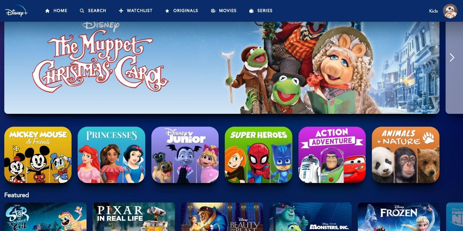 Το παιδικό προφίλ της Disney+είναι διαφορετικό από το τυπικό προφίλ του.