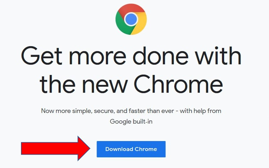 Google Chrome下载页面
