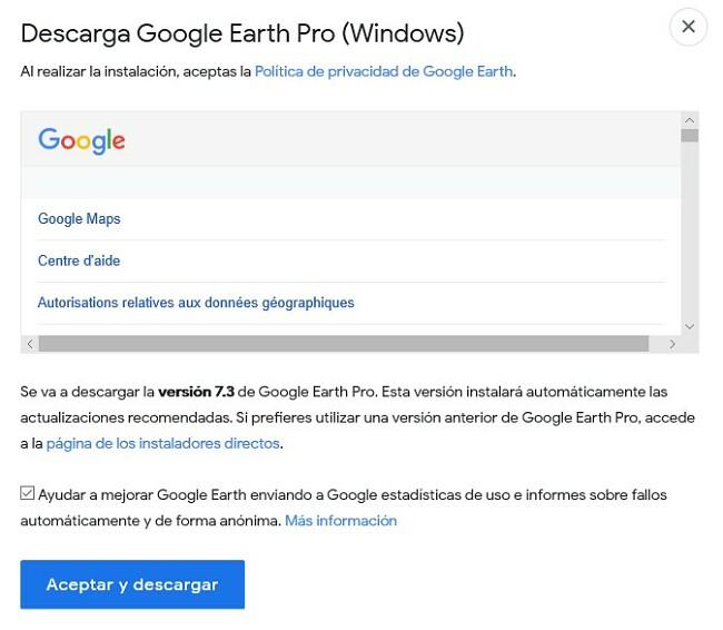 Descargar Google Earth Pro para escritorio