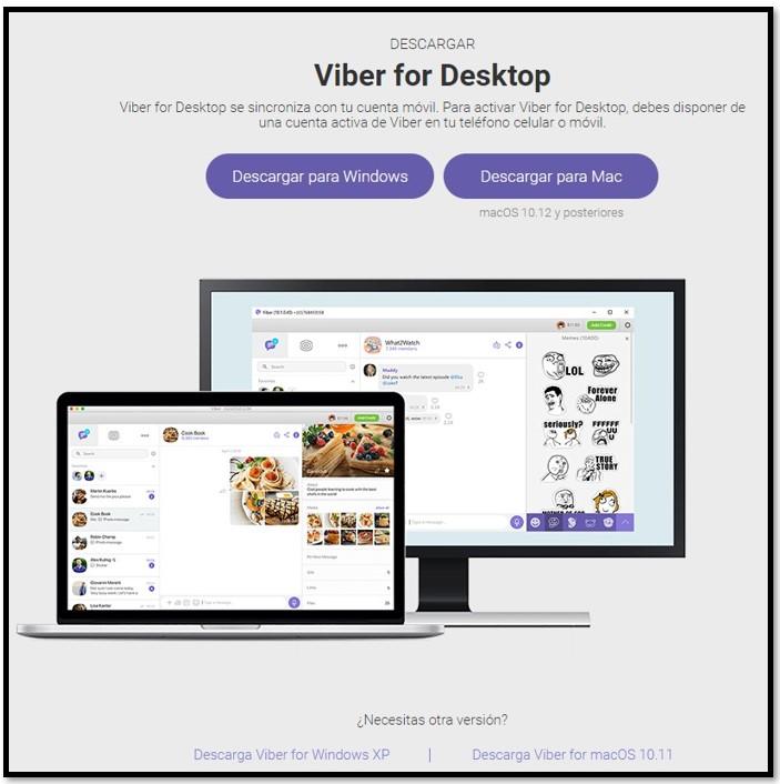 Descargar Viber para escritorio