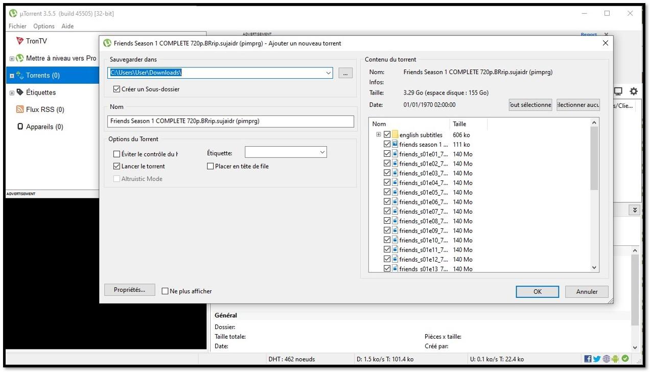 utorrent descargar información
