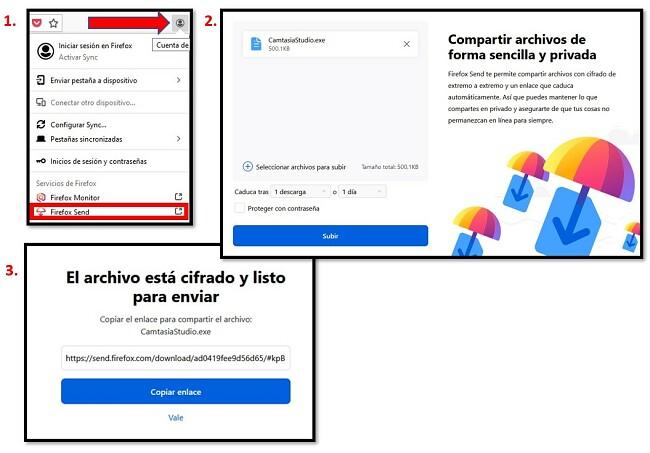 Cómo usar Firefox Send