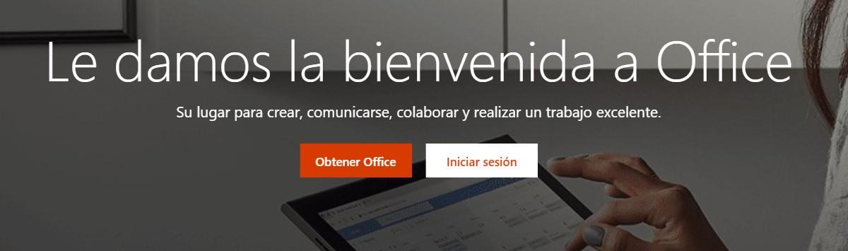 Página de inicio de Microsoft Office