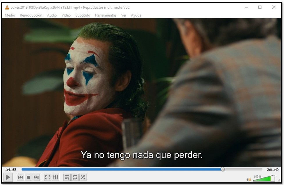 Visualización de subtítulos en VLC Media Player