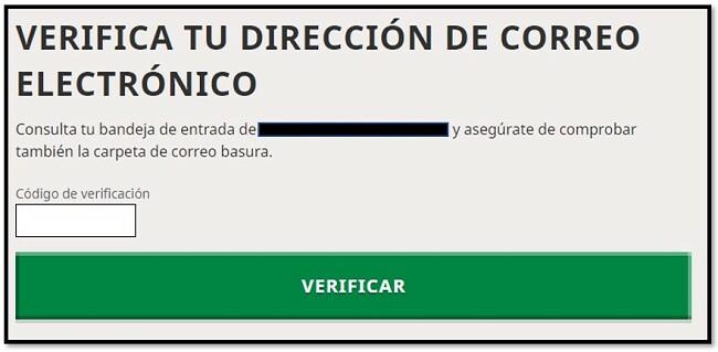 Verificación de correo electrónico de la cuenta de Mojang