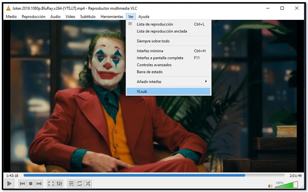 Buscar subtítulos con VLC VLsub
