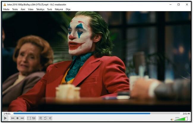 Katsot videoita VLC: llä