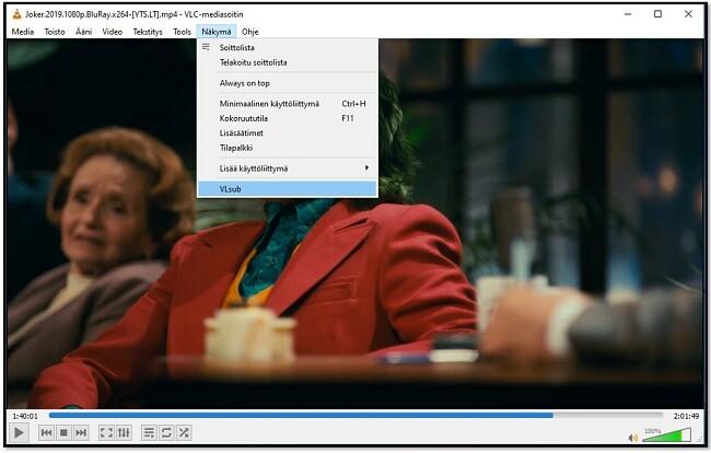 Etsi tekstityksiä VLC VLsub -sovelluksella