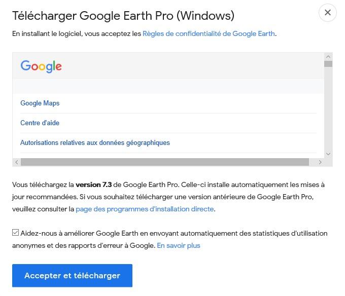 Télécharger Google Earth Pro pour ordinateur