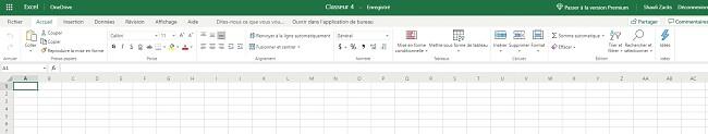 Excel gratuit basé sur un navigateur
