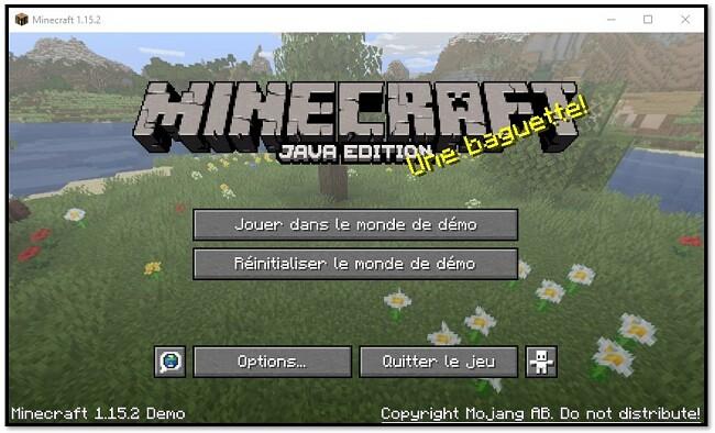 MineCraft - jouez dans le monde de la démonstration
