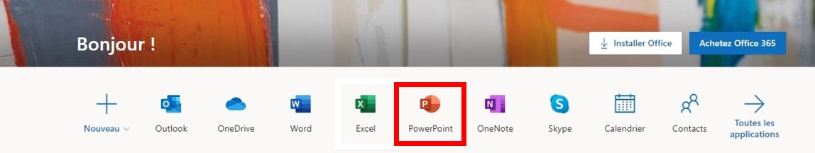 Basé sur un navigateur PowerPoint